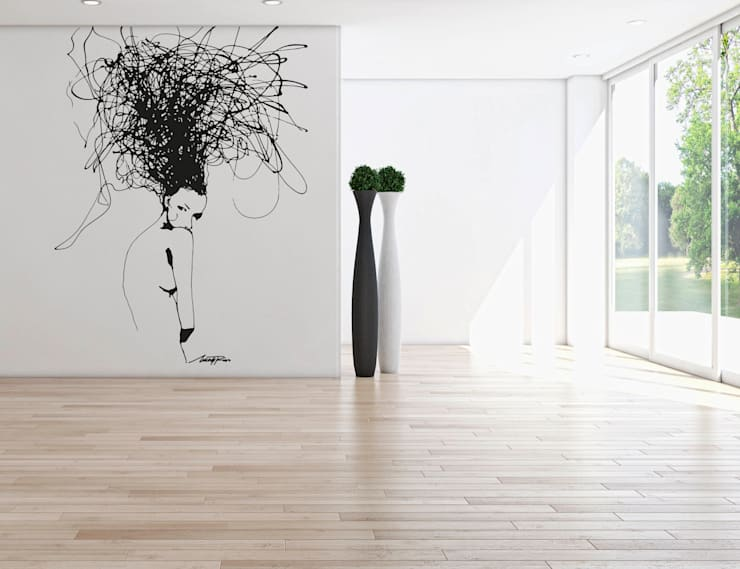 VIENZZO en la pared - Art in Plastic: Paredes y suelos de estilo  de vienzzoart