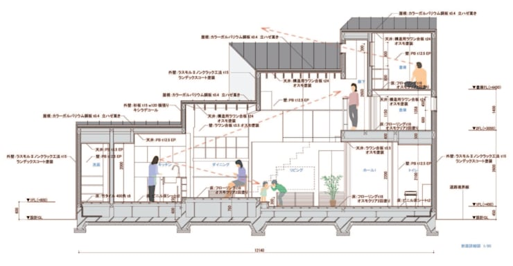 東員の住宅: 諸江一紀建築設計事務所が手掛けたです。