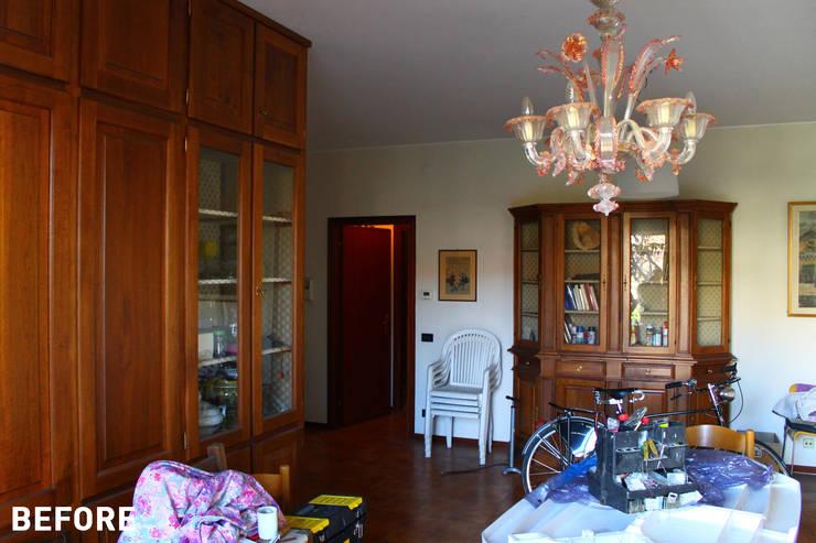 Milano - San Siro, Soggiorno :  in stile  di Davide Mori Studio Architettura e Design