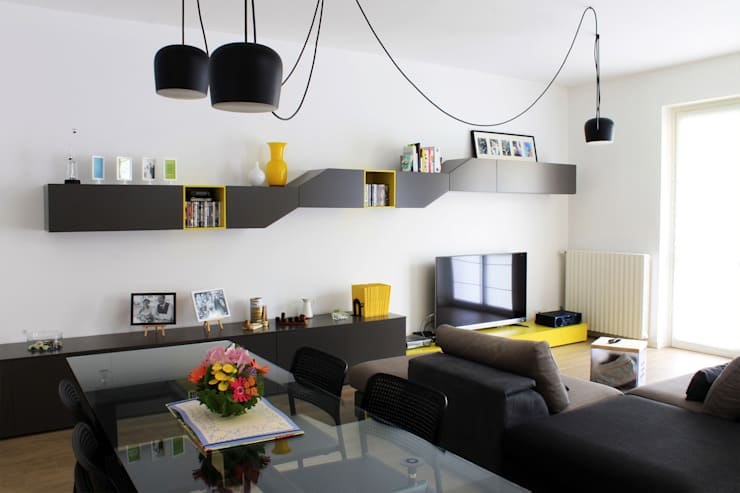 Milano - San Siro, Soggiorno : Case in stile  di Davide Mori Studio Architettura e Design, Moderno
