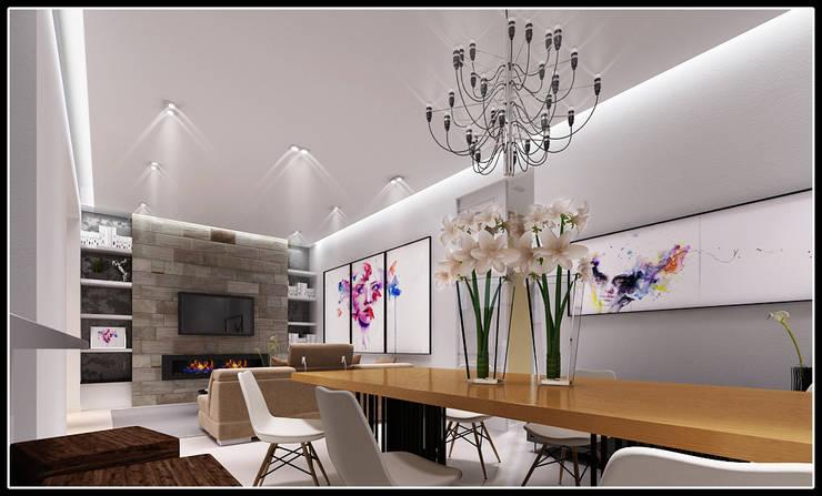 F House: Soggiorno in stile  di AG Interior Design