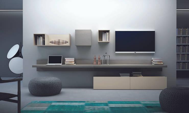 Projekty,  Salon zaprojektowane przez MD House