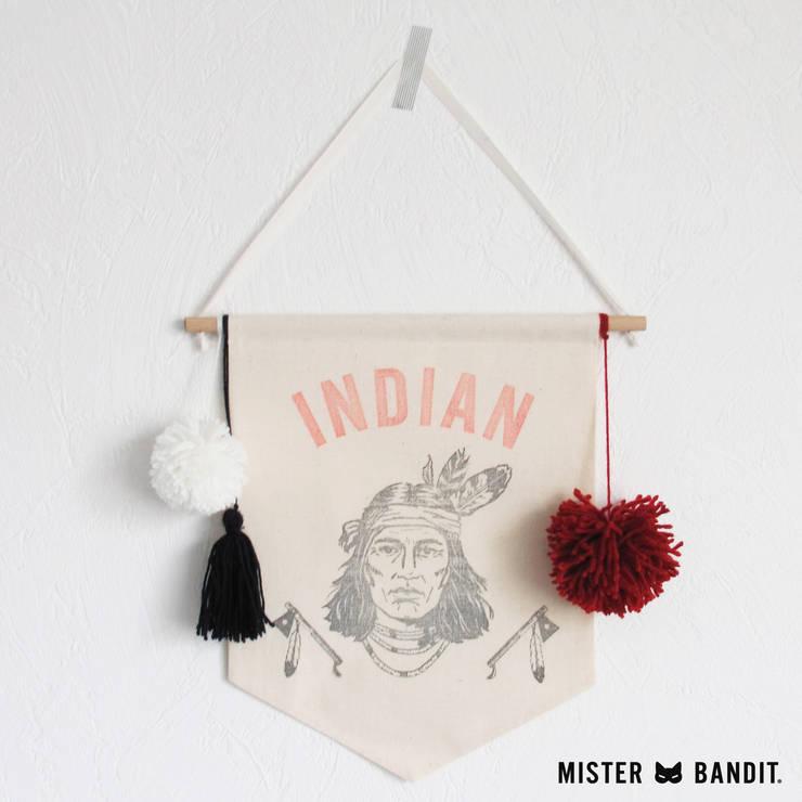 drapeau Indian: Chambre d'enfants de style  par Mister Bandit