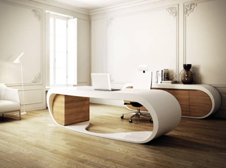 Goggle Desk:  Kantoren & winkels door VENLET INTERIOR ARCHITECTURE