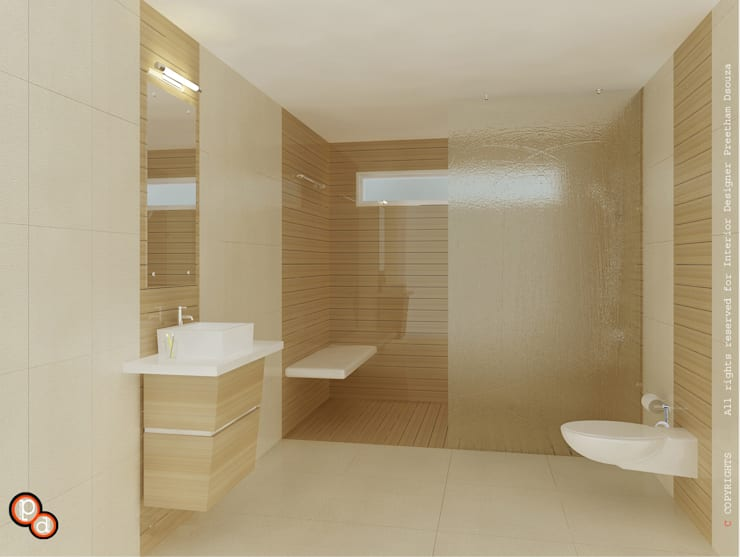 Bathroom by Preetham  Interior Designer
