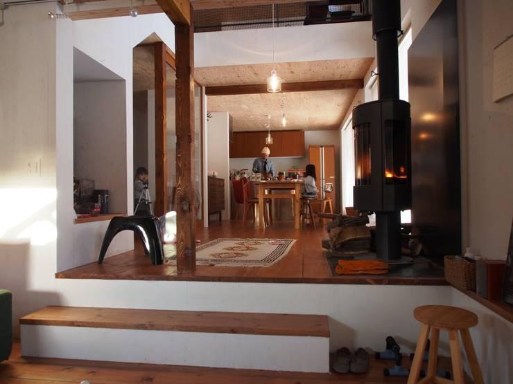Living room by 神子島肇建築設計事務所, Modern