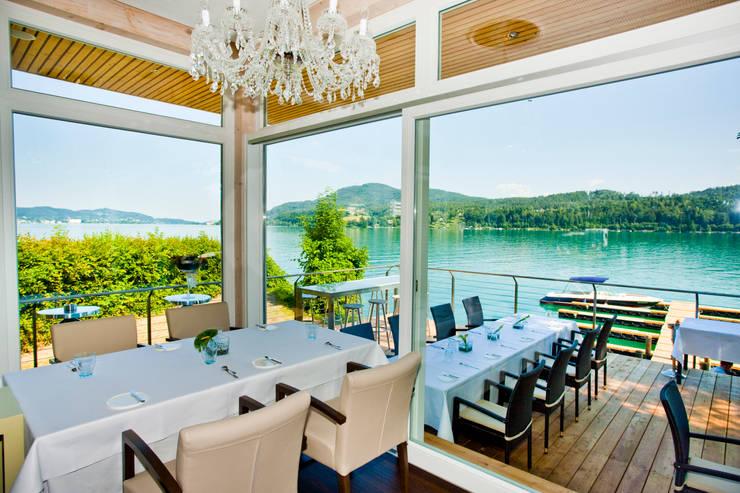 See Restaurant Saag Wörthersee - 3 Hauben mit 190 Grad Seeblick:  Gastronomie von Weingraber&Prohart Architekten ZT GmbH