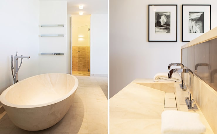 Villa Montesol, Ibiza:  Badezimmer von STUDIO JAN WICHERS