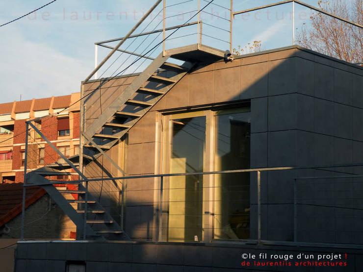 L'immatériel: Maisons de style  par dE LAURENTIIS Architectures, le fil rouge d'un projet !
