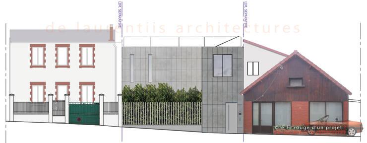 L'immatériel: Murs de style  par dE LAURENTIIS Architectures, le fil rouge d'un projet !
