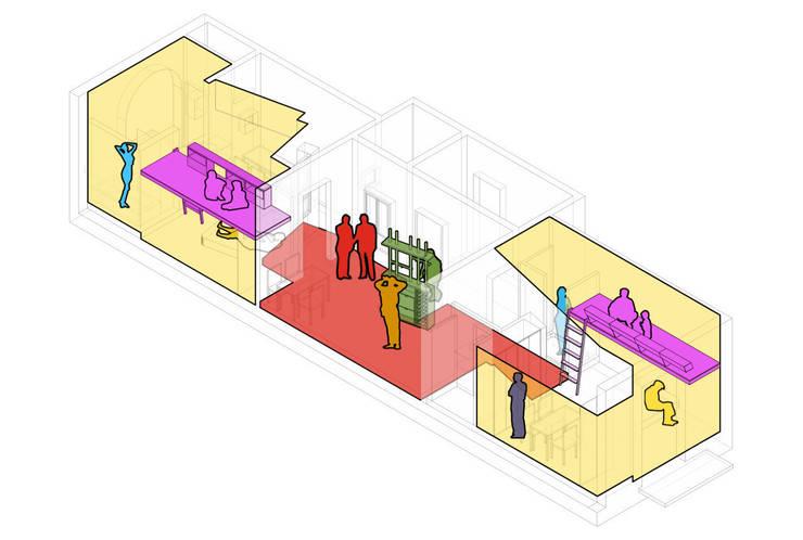 PISO SALVA46:  de estilo  de Miel Arquitectos