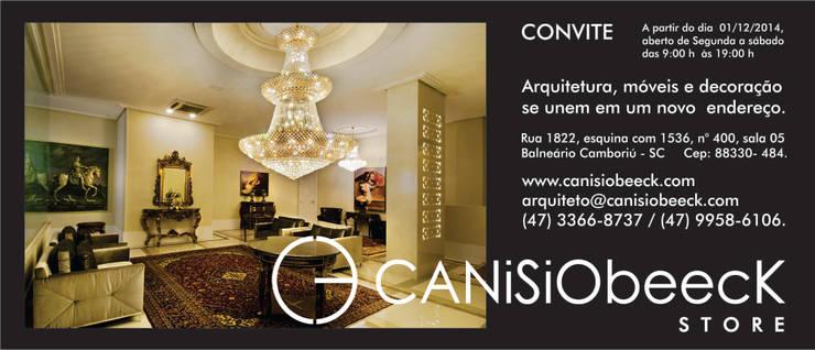 CANISIObeecK STORE: Lojas e imóveis comerciais  por Canisio Beeck Arquiteto