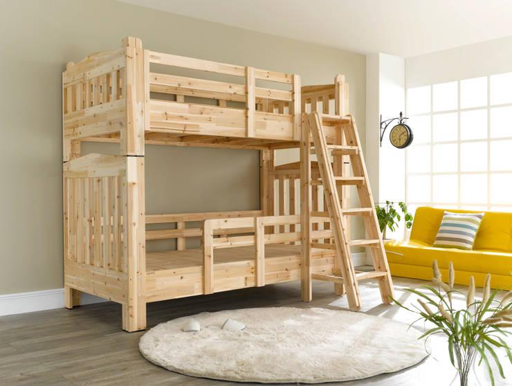 삼나무 원목 2층침대: 심서방가구의  아이 방