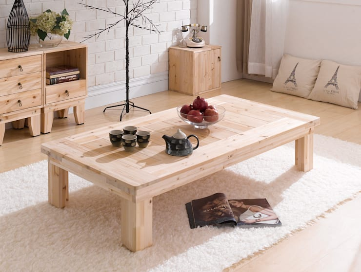 삼나무 원목 탁자: 심서방가구의  거실