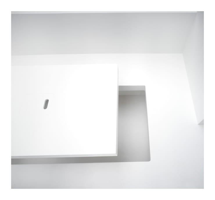 White on White:  Dining room by Gianni Botsford Architects