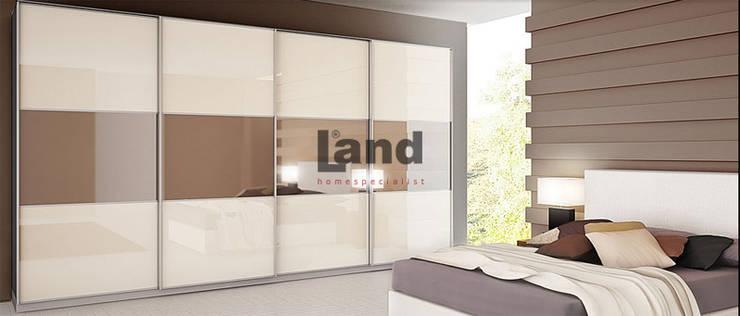Land Home Specialist – Camlı Raylı Dolap Serisi:  tarz İç Dekorasyon