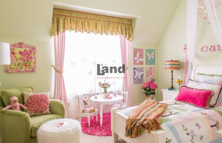 Land Home Specialist – Romantik Provance Genç Odası:  tarz Çocuk Odası,