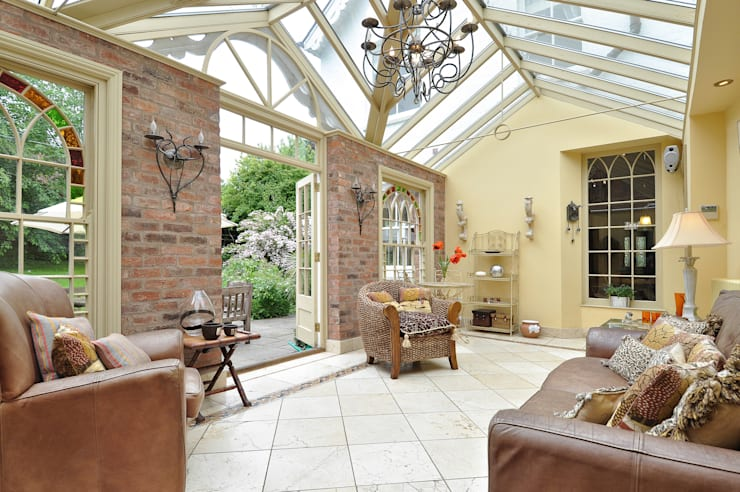 A Garden Room Project:  Conservatory by Deborah Warne Interiors Ltd