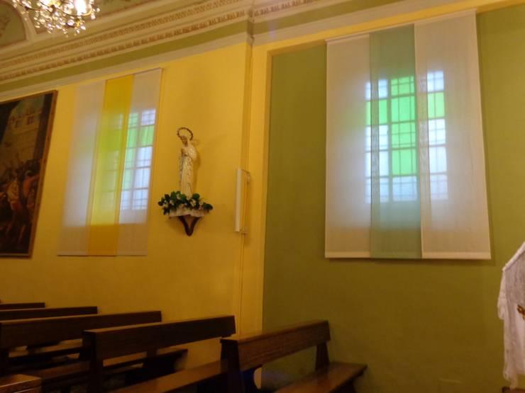 Fornitura Tendaggi Parrocchia di Ranica:  in stile  di Tappezzeria Prandi dal 1968