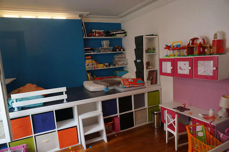eclectic Nursery/kid's room by Agence Duo Deco Paris