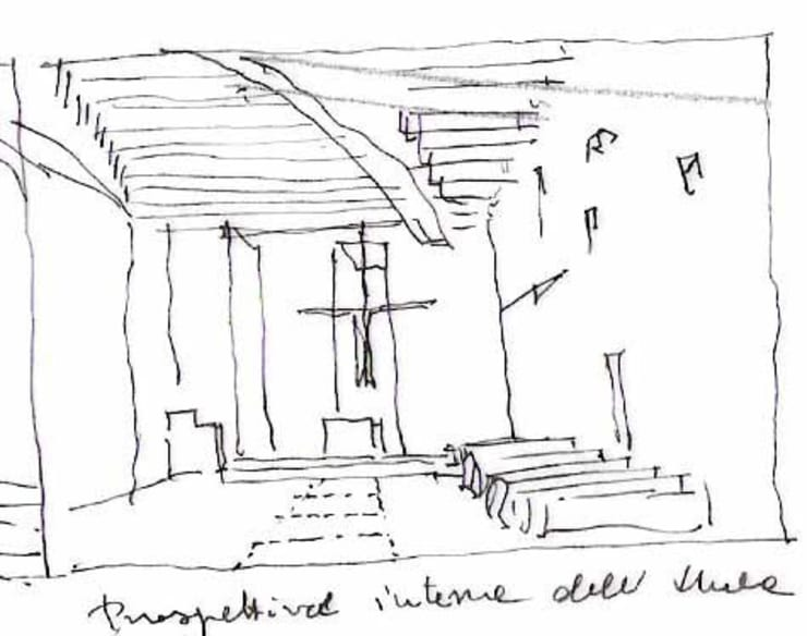 Chiesa di Santa Teresa di Gesù Bambino:  in stile  di Studio di architettura a. muzzetto, Mediterraneo