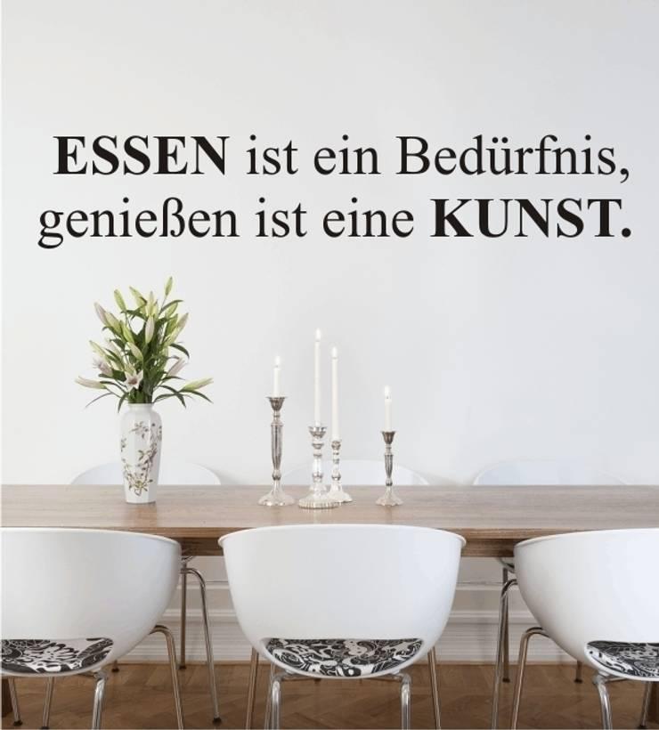 Essen ist ein Bedürfnis.... als Wandtattoo:  Esszimmer von www.wandtattoo-home.de,Klassisch