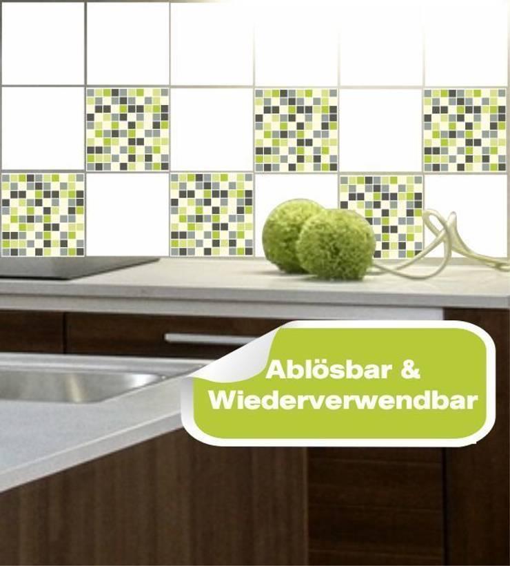 Fliesensticker Mosaik grün:  Esszimmer von www.wandtattoo-home.de,Klassisch