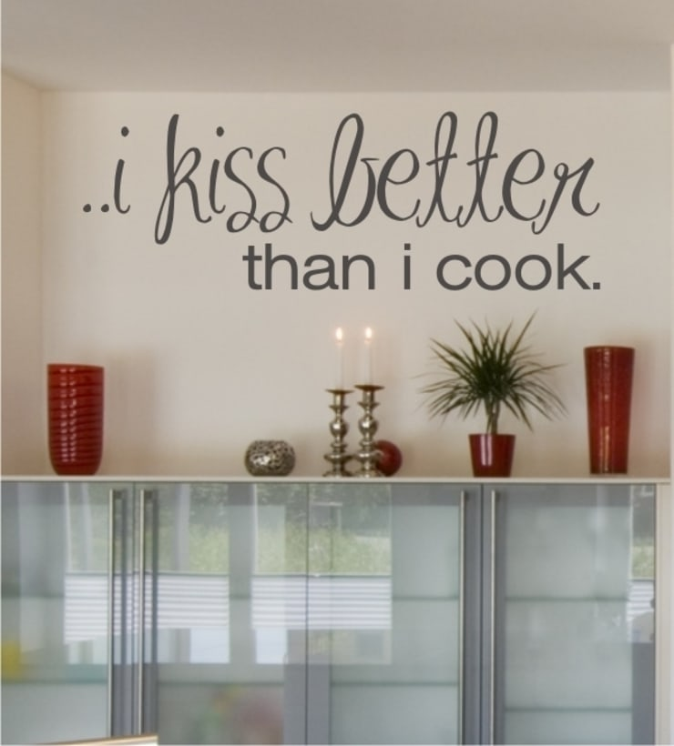i kiss better than i cook als Wandtattoo:  Esszimmer von www.wandtattoo-home.de,Klassisch