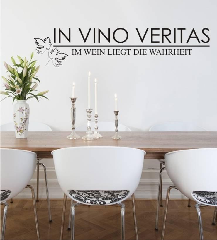 In Vino Veritas als Wandtattoo:  Esszimmer von www.wandtattoo-home.de,Klassisch