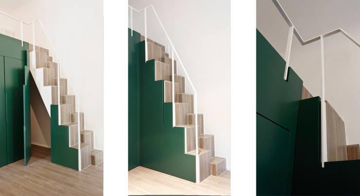 Mini Loft: Soggiorno in stile  di PLANAIR ®, Minimalista