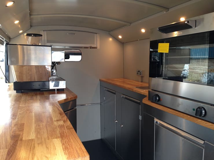 H Van Conversion:  Interior landscaping by Tudor Catering Trailers