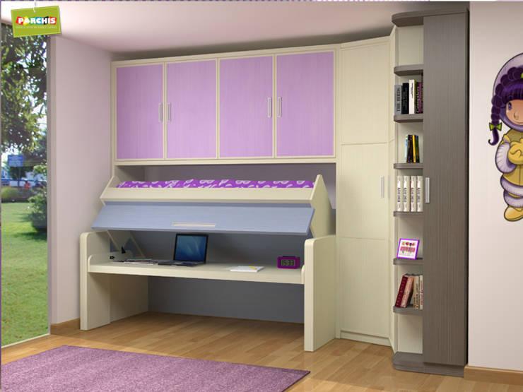 Literas abatibles autoportantes. muebles plegables para pladur: Habitaciones infantiles de estilo  de Muebles Parchis. Dormitorios Juveniles.