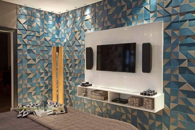 Revestimento como obra de arte: Parede e pavimento  por Adriana Bellão - Arquitetura de A a Z