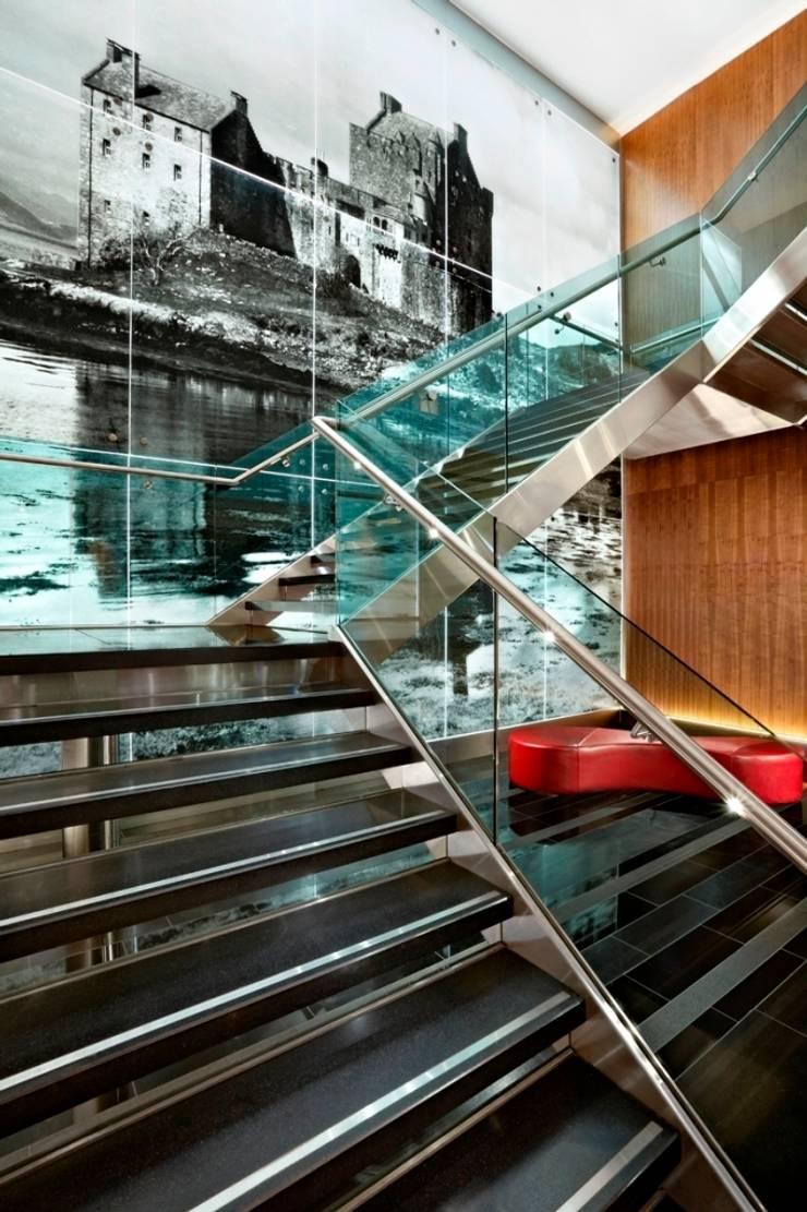 Sheraton Grand Edinburgh - Lobby Staircase:  Hotels by MKV Design