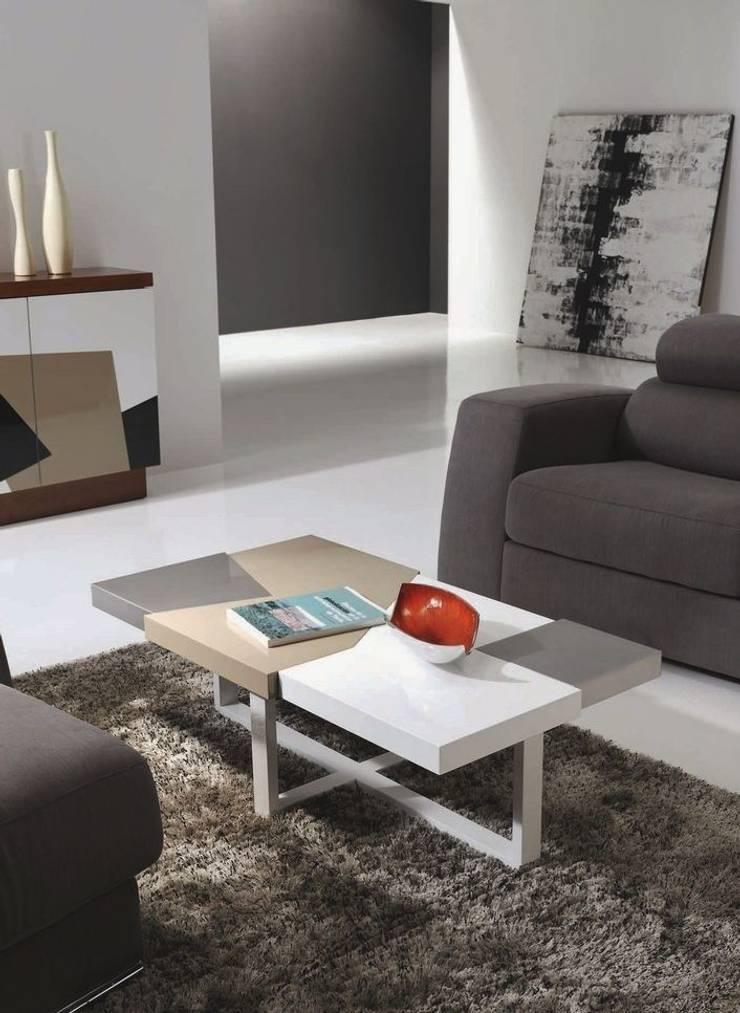 Mesa de centro rectangular Morada: Salones de estilo  de Paco Escrivá Muebles