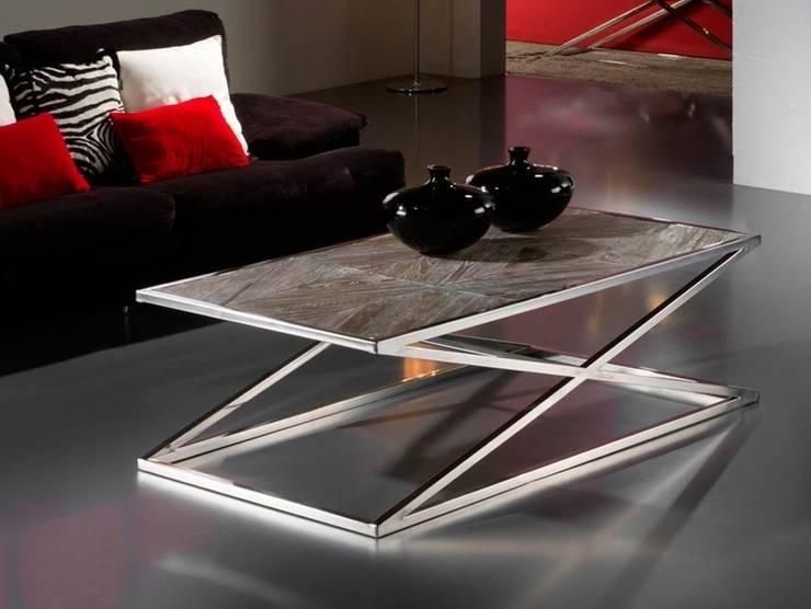 Mesa de centro moderna Aspa: Salones de estilo moderno de Paco Escrivá Muebles
