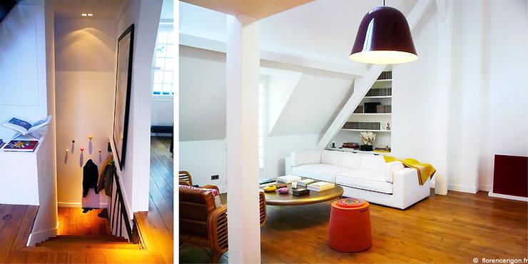 Appartement privé 222 m².:  de style  par Agence Florence Rigon