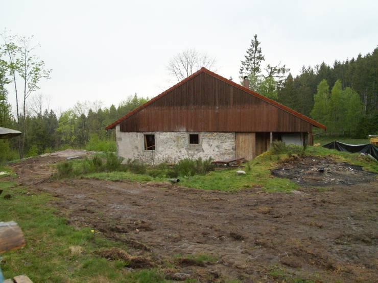 Pignon est en cours de chantier par Coutant Architecte Rural