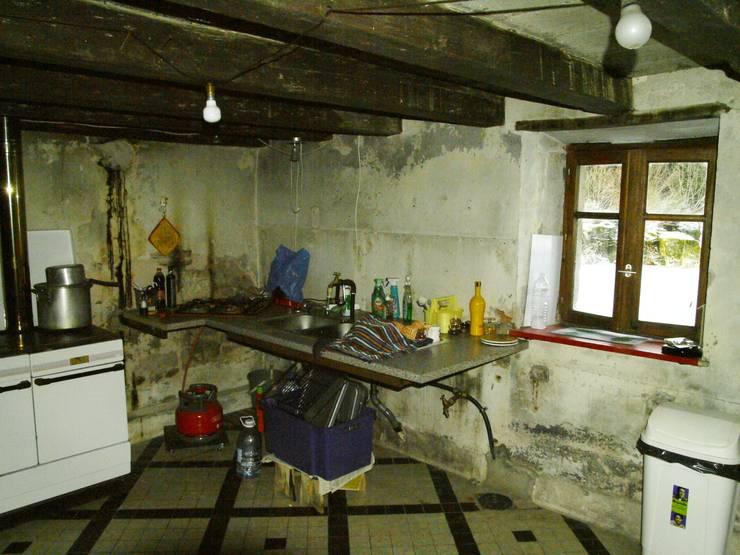 """le futur """"salon ancien"""" avant travaux par Coutant Architecte Rural"""