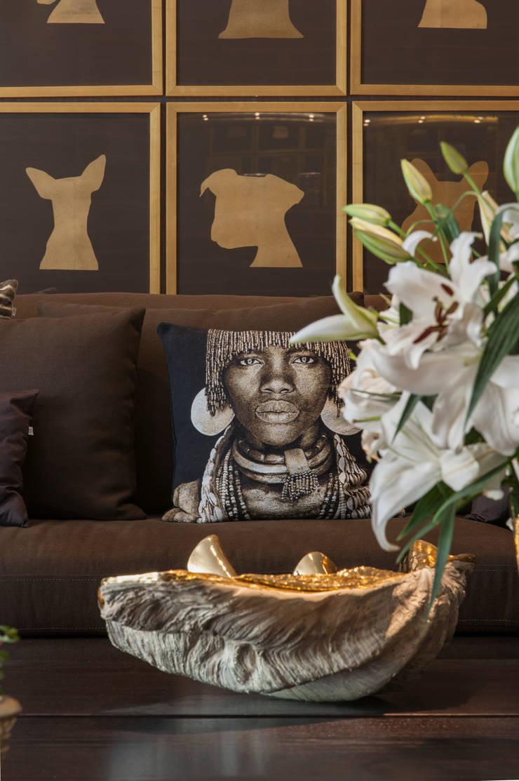 Casa Cor 2014: Salas de estar  por Brunete Fraccaroli Arquitetura e Interiores