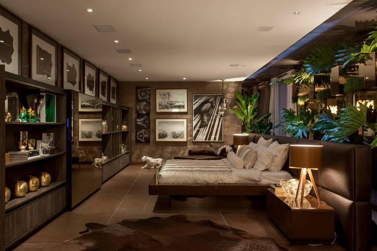 Casa Cor 2014: Quartos  por Brunete Fraccaroli Arquitetura e Interiores