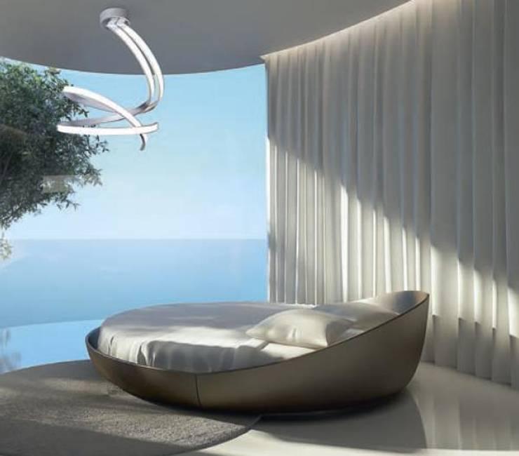 Oświetlenie sypialni z wykorzystaniem Żyrandola Lungo.: styl , w kategorii  zaprojektowany przez 4FunDesign.com,Nowoczesny