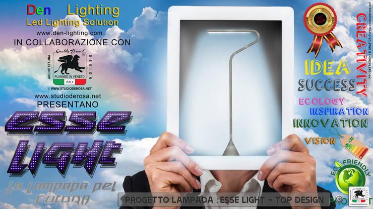 ESSE LIGHT - LA LAMPADA DEL FUTURO: Soggiorno in stile  di Studio De Rosa,