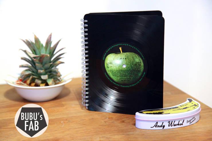 Grand carnet en disque vinyle recyclés: Bureau de style  par Rose Bunker