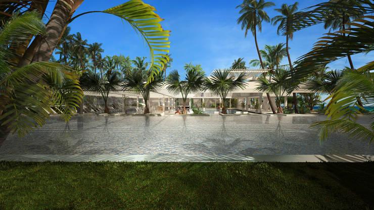 RESIDENTIAL HOUSE IN THE BEACH:  de estilo  de SERGIALEX.SCP