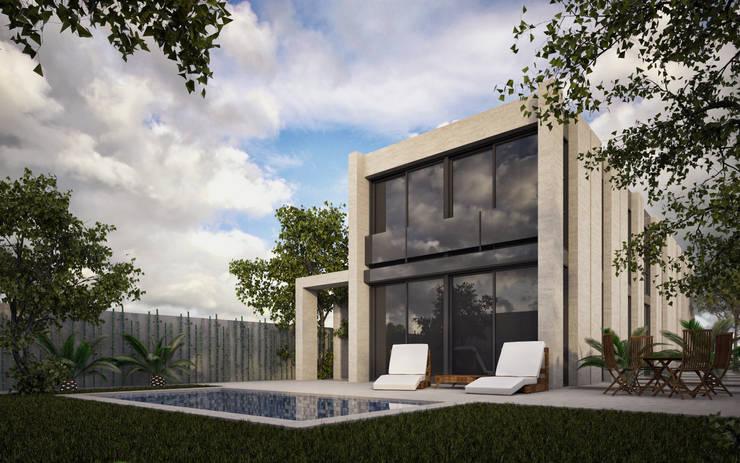 RESIDENTIAL HOUSE IN THE BEACH. CASTELLDEFELS:  de estilo  de SERGIALEX.SCP