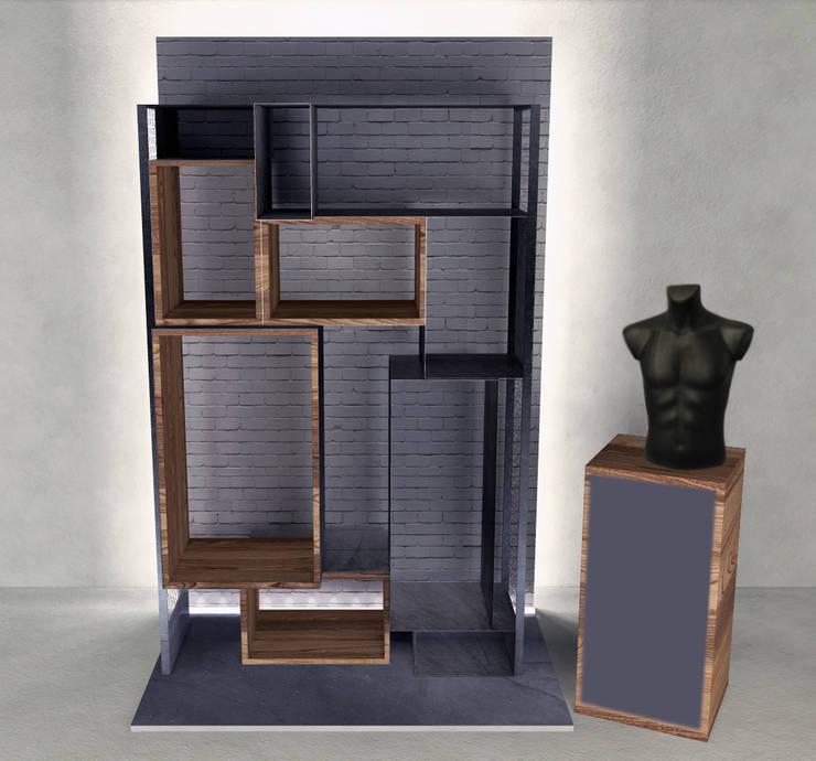 mobile 02: Negozi & Locali commerciali in stile  di viabrenneroarchitettura, Industrial
