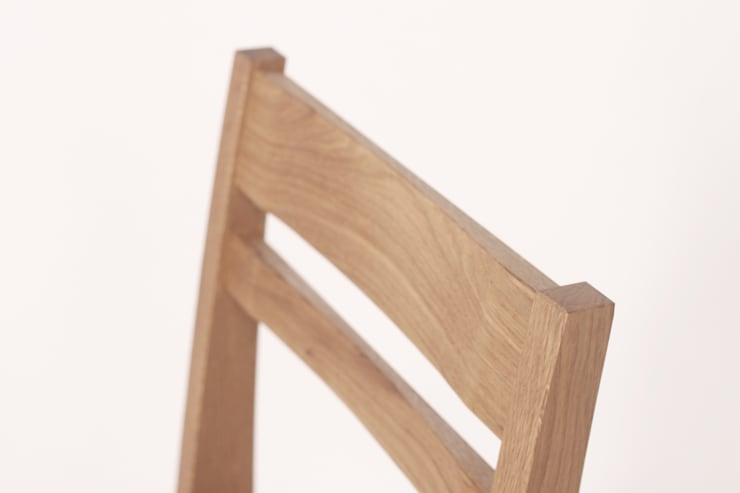white oak x fabric basic chair: 톤 퍼니처 스튜디오의  다이닝 룸