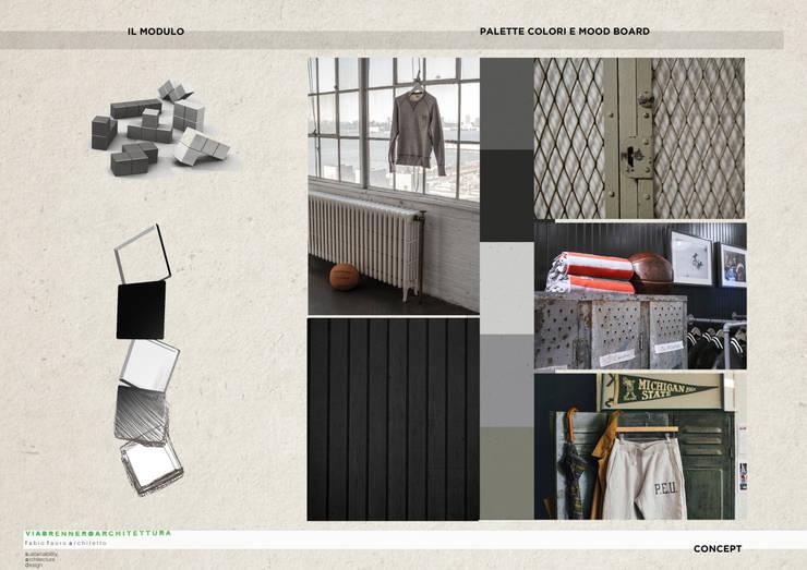 tavola 0: Negozi & Locali commerciali in stile  di viabrenneroarchitettura, Industrial