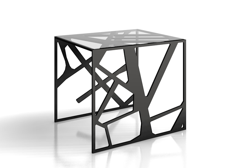 Places Tables: Friedrichshain-Kreuzberg (series of two sidetables):  Living room by FELT Architecture and Urban Design
